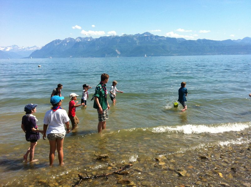 La bande des rigolos dans le lac!